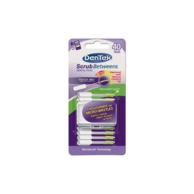 DenTek Scrub Betweens Dental Picks, 40 ea