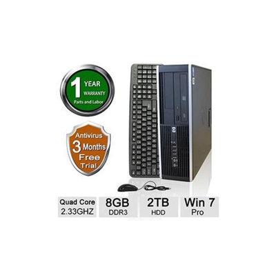 Refurbished HP 6000 Pro Desktop PC - Intel Quad Core Q8200 2.33GHz, 8GB DDR3 Memory, 2TB HDD, DVD, Windows 7 Professional 64-bit (Of