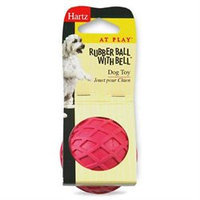 Hartz Rubber Ball With Bell Dog Toy 81137