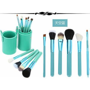 New 12pcs Professional Makeup Brush Set Cosmetic Brush Kit Makeup Tool with Cup Leather Holder Case