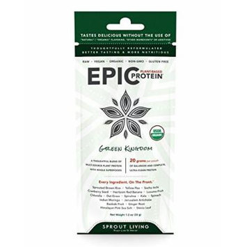 Sprout Living Epic Protein Powder, Green Kingdom, 32 Gram