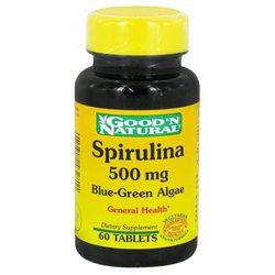 Good 'N Natural - Spirulina 500 mg. - 60 Tablets
