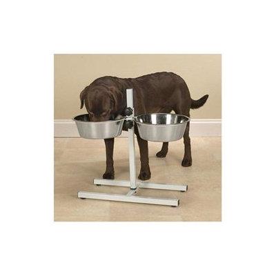 ProSelect Black Adjustable Dog Diner with Bowls