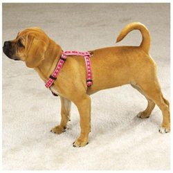 Pet Pals ZA885 14 75 Two Tone Pawprint Harness 14-20 In Pink