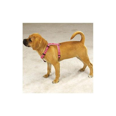 Pet Pals ZA885 08 75 Two Tone Pawprint Harness 8-14 In Pink