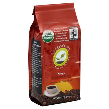 Growers Alliance Coffee Organic Kenya Whole Bean Coffee 12 oz