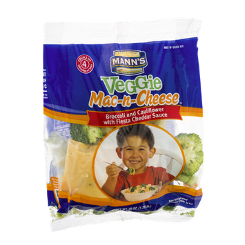 Mann's Veggie Mac-n-Cheese Broccoli and Cauliflower with Fiesta Cheddar Sauce