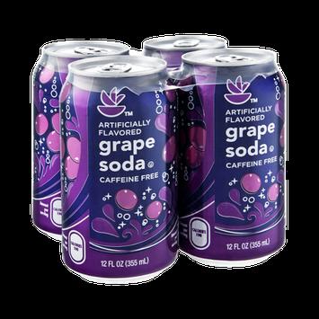 Stop & Shop Caffeine Free Grape Soda - 4 PK