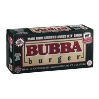 Bubba Burger Certified Angus Beef Chuck 1/3 Pound Burgers - 6 CT