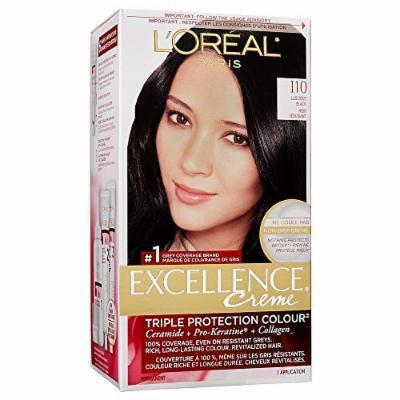 L'Oreal Paris Excellence Creme Hair Color, Luscious Black 2C