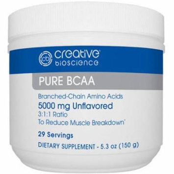Creative Bioscience Pure BCAA Dietary Supplement, 5000mg, 5.3 oz