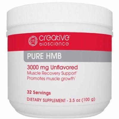 Creative Bioscience Pure HMB Dietary Supplement, 3000mg, 3.5 oz