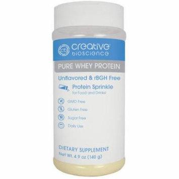 Creative Bioscience Pure Whey Protein Dietary Supplement, 4.9 oz