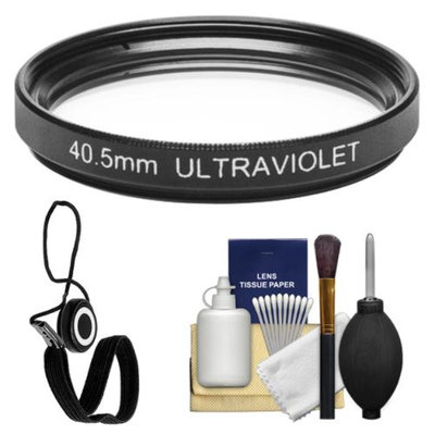 Sunpak 40.5mm UV Ultraviolet Glass Filter with CapKeeper + Cleaning Kit for Nikon 1 V1, J1 Interchangeable Lens Digital Camera with 10mm f/2.8, 30-110mm VR & 10-30mm Lens