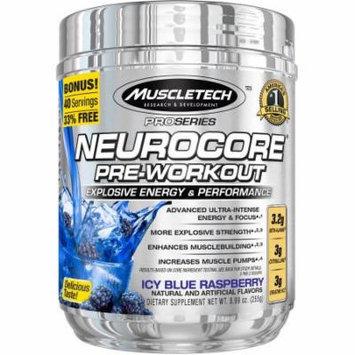 MuscleTech Pro Series Neurocore Pre-Workout Icy Blue Raspberry Dietary Supplement, 8.99 oz