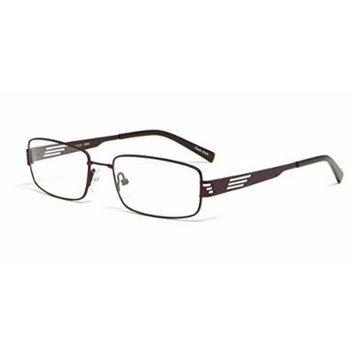 Calabria Viv 203 in Brown Designer Reading Glass Frames ; Demo Lens
