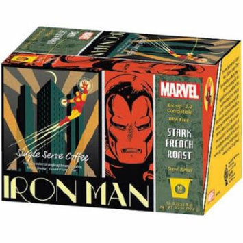 Marvel Iron Man Stark French Roast Single Serve Coffee, 3.5 oz