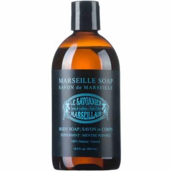 Le Savonnier Marseillais Peppermint Liquid Body Soap, 16.9 fl oz