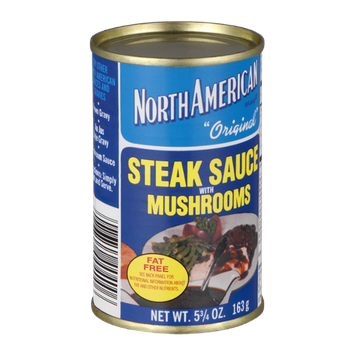 North American Original Steak Sauce with Mushrooms