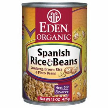 Eden Spanish Rice & Beans, Organic, 15 Ounce (Pack of 6)