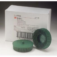 3M 7526 Scotch-Brite Roloc Bristle Disc Green 3 in. Coarse (10-Pack)