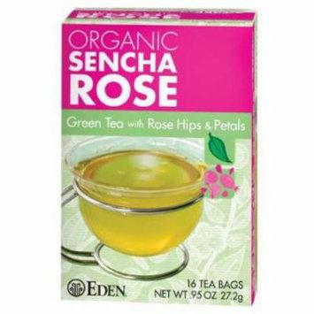 Eden Sencha Rose Green Tea, Organic , 16 Count (Pack of 6)