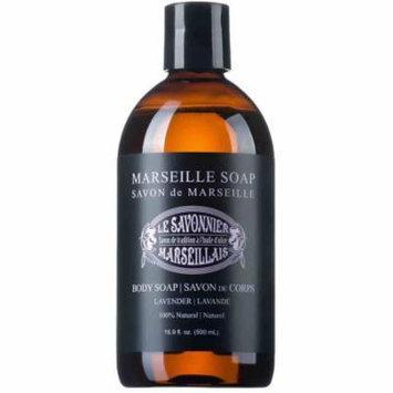 Le Savonnier Marseillais Lavender Liquid Body Soap, 16.9 fl oz