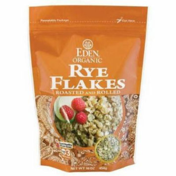 Eden Rye Flakes - Toasted & Rolled, Organic, 100% Whole Grain, 16 Ounce (Pack of 6)