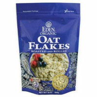 Eden Oat Flakes - Toasted & Rolled, Organic, 100% Whole Grain, 16 Ounce (Pack of 6)