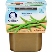 Gerber 2nd Foods Green Beans, 4 oz, 2 count, (Pack of 8)