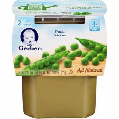 Gerber 2nd Foods Peas, 4 oz, 2 count, (Pack of 8)