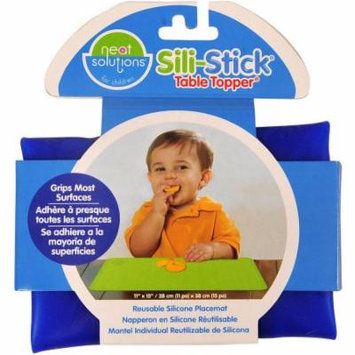 Neat Solutions Sili-Stick Silicone Reusable Placemat, BPA-Free, Blue