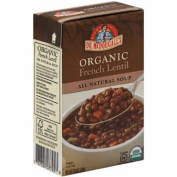 Dr. McDougall's Organic French Lentil All Natural Soup, 17.6 oz, (Pack of 6)