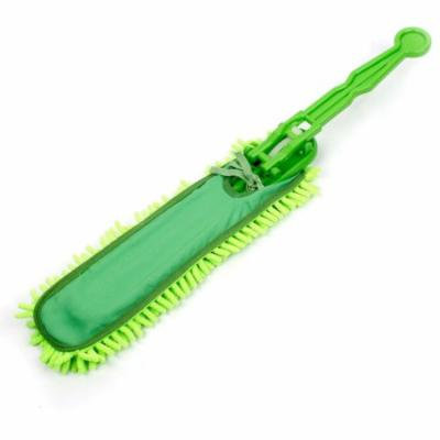 Green Removeable Chenille Microfibe Duster Brush Cleaner for Office Car