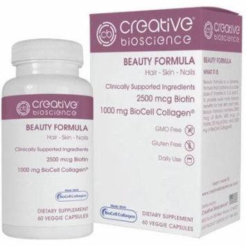 Creative Bioscience Beauty Formula Dietary Supplement, 60 count