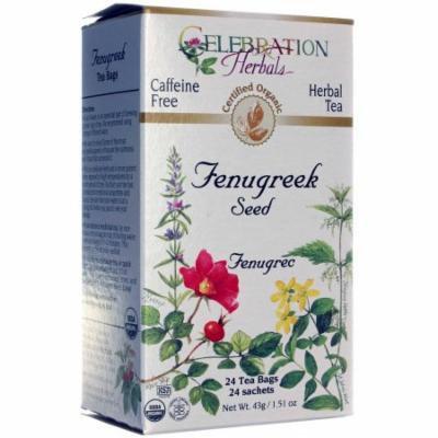 Celebration Herbals Fenugreek Seed Herbal Tea Bags, 24 count, (Pack of 3)
