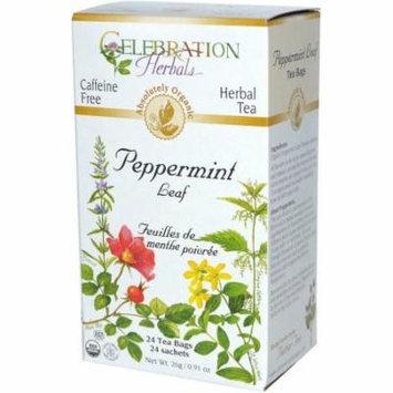 Celebration Herbals Peppermint Leaf Herbal Tea Bags, 24 count, (Pack of 3)