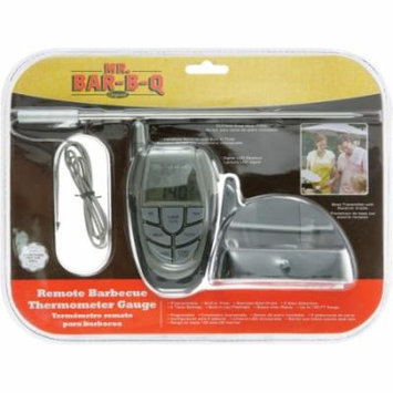 Mr. Bar.B.Q 40145X Mr. Bar.B.Q Remote Barbecue Thermometer Gauge - Celsius, Fahrenheit Reading - Flashlight, Programmable, Built-in Timer, Beeper - For Meat