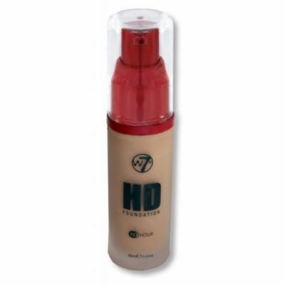W7 HD 12 HR Liquid Foundation, Pump - True Beige, 30ml/1.01fl oz