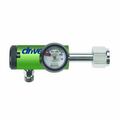 Drive Medical CGA540 Oxygen Regulator w/DISS Outlet-15LPM