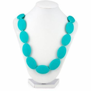 Nuby Teething Necklace with Flat Oval Beads (Choose Your Color)