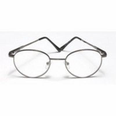 Reading Glasses 2.50 power, Round and Metal, Frame Size: R032 - 1 Ea