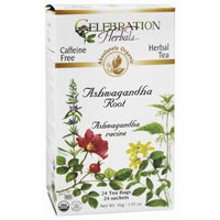 Celebration Herbals Ashwagandha Root Herbal Tea, 24 count, 1.05 oz, (Pack of 3)