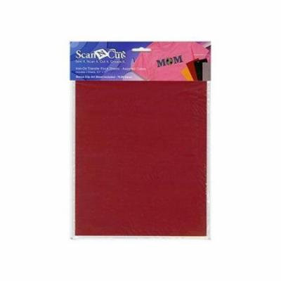 Brother Iron-On Transfer Flocked Sheets - Yellow, Red, Black, Brown
