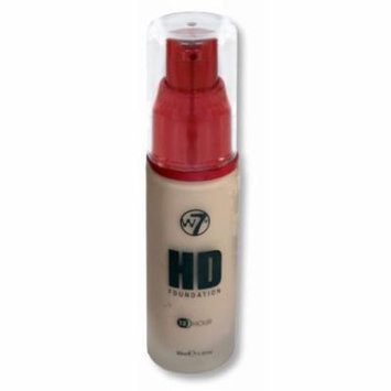 W7 HD 12 HR Liquid Foundation, Pump - Sand Beige, 30ml/1.01fl oz