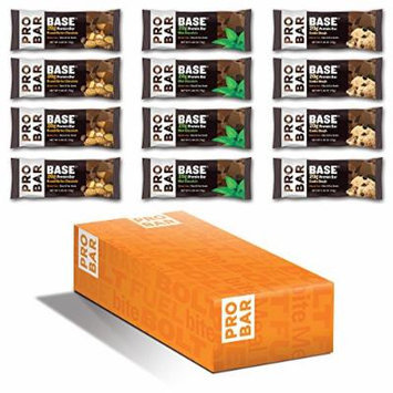 PROBAR BASE Protein Bar, Variety Pack, 2.46 Ounce, 12 Count