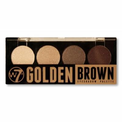 W7 Quad-Eyeshadow Palette Golden Brown