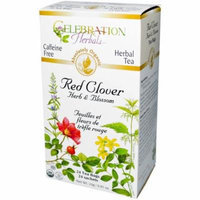 Celebration Herbals Red Clover Herb & Blossom Herbal Tea Bags, 24 count, (Pack of 3)