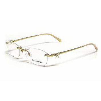 Tiffany Womens Designer Reading Glasses 1101 in Gold (6021) 53mm ; DEMO LENS