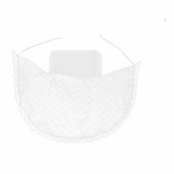Ladies White Lace Brim Accent Neck Protection Windproof Sun Protect Face Mask